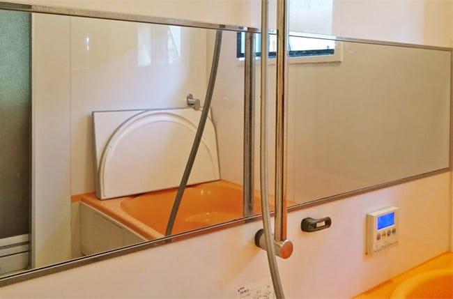 ユニットバスの鏡