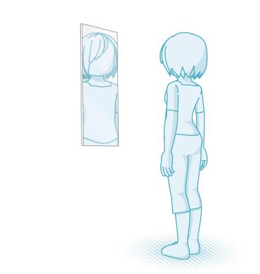 全身が映らない鏡