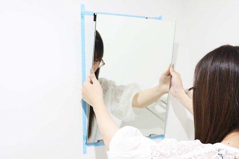 鏡を貼り付ける