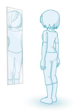 幅が狭いと見切れる鏡